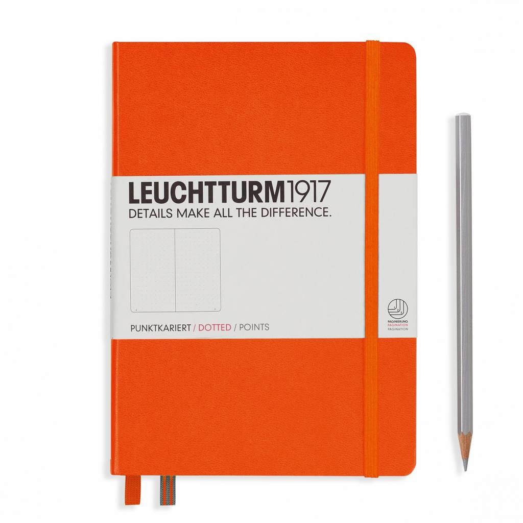 Leuchtturm1917 Leuchtturm1917 Notizbuch, Medium, Orange, Dotted