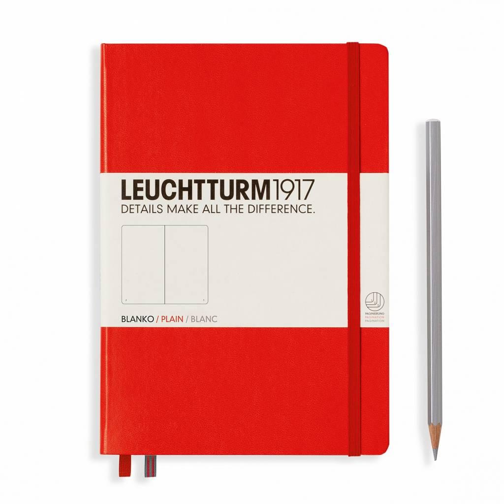 Leuchtturm1917 Leuchtturm1917 Notizbuch, Medium, Rot, Blanko