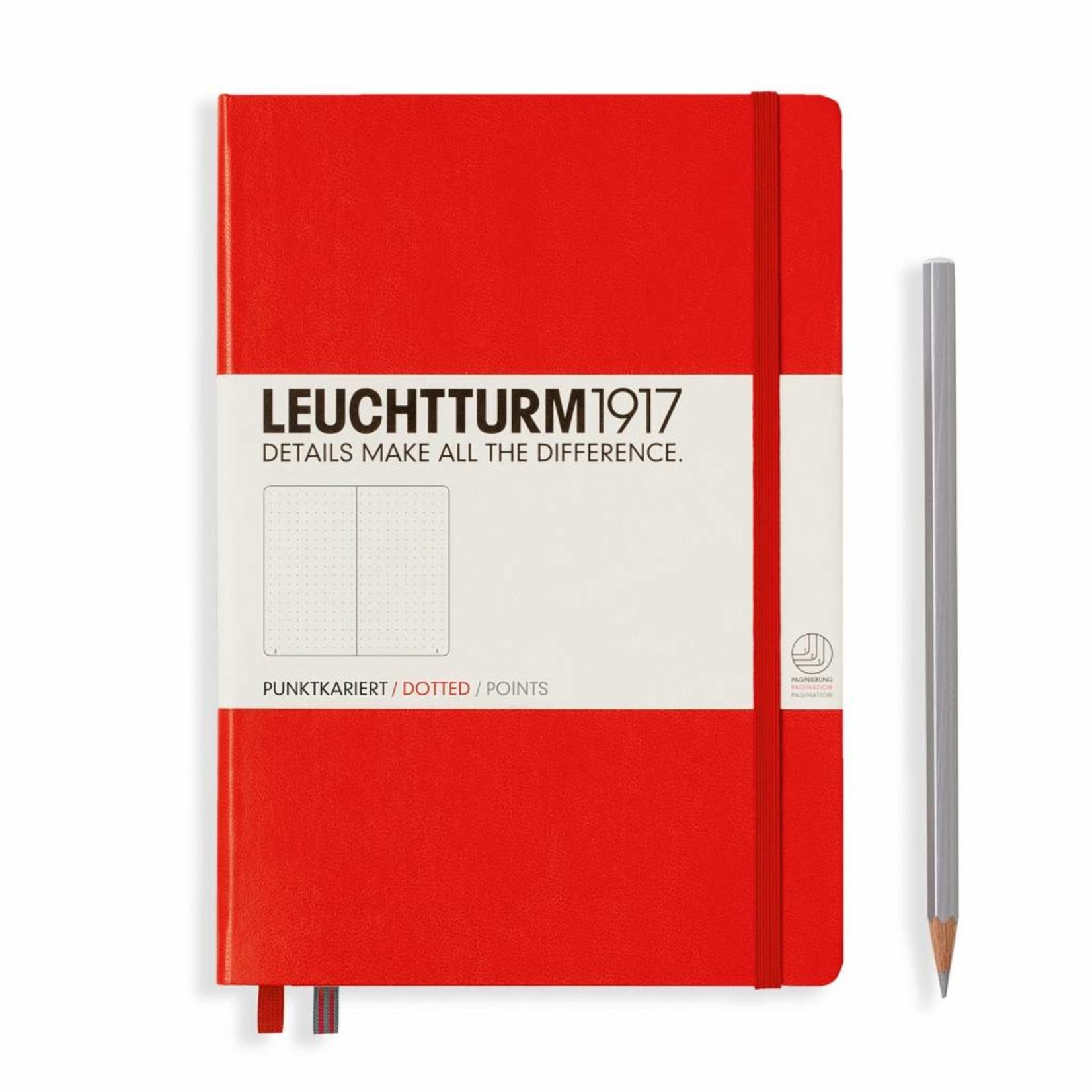 Leuchtturm1917 Leuchtturm1917 Notizbuch, Medium, Rot, Dotted