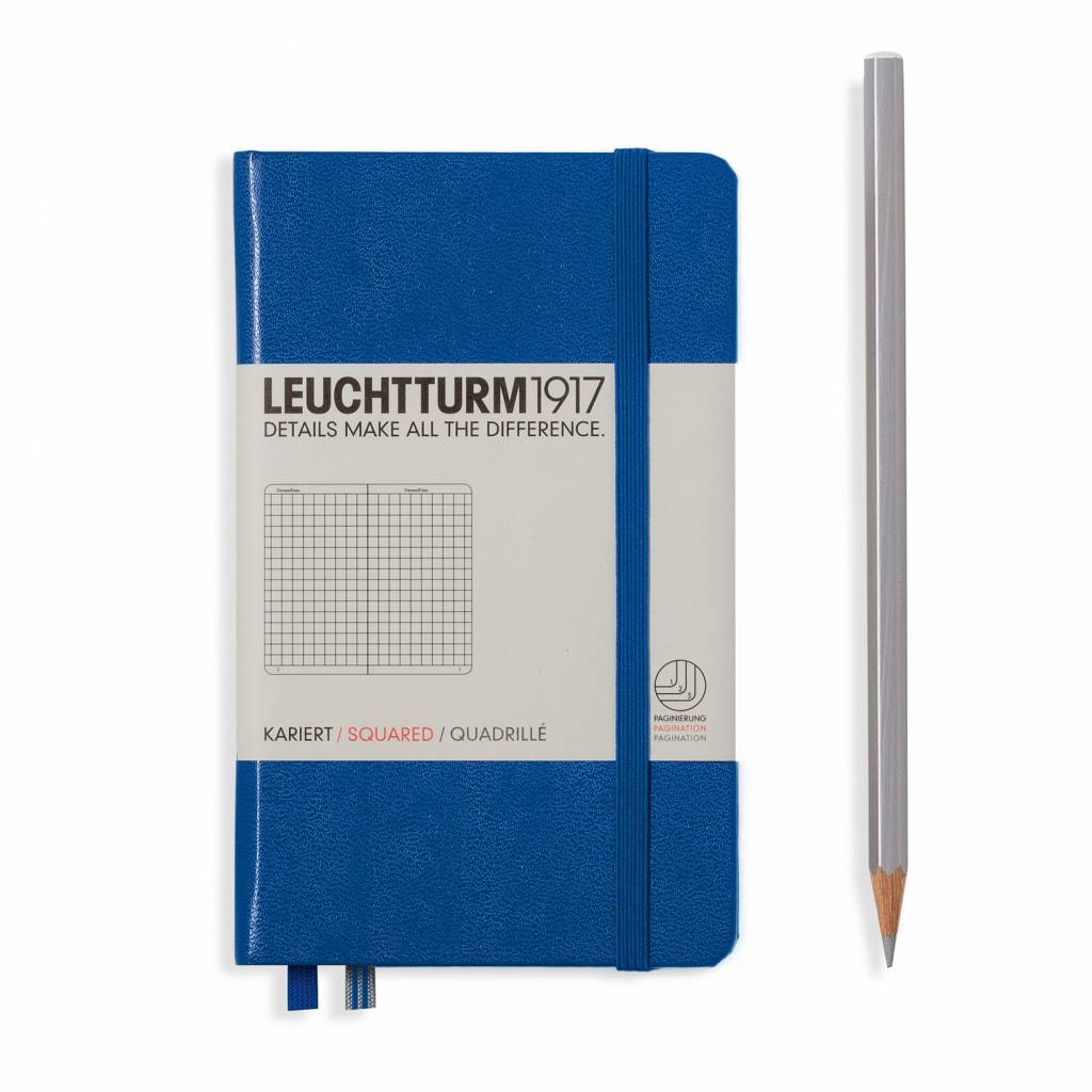 Leuchtturm1917 Leuchtturm1917 Notizbuch, Pocket, Königsblau, Kariert