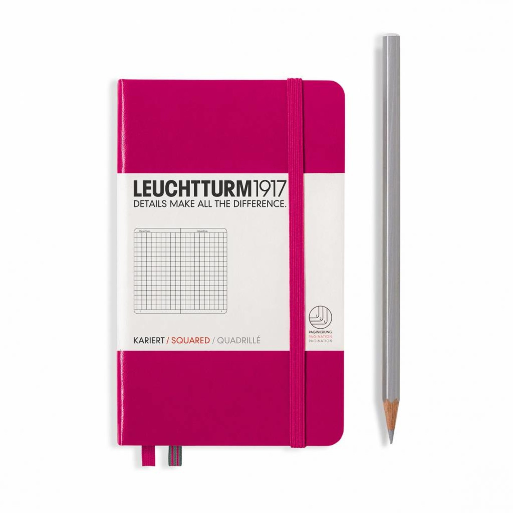 Leuchtturm1917 Leuchtturm1917 Notizbuch, Pocket, Beere, Kariert