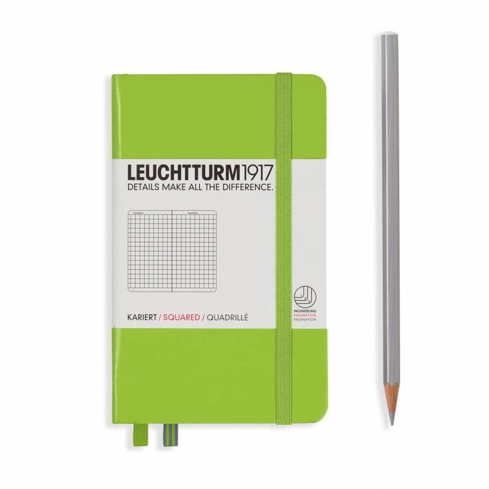 Leuchtturm1917 Leuchtturm1917 Notizbuch, Pocket, Smaragd, Kariert