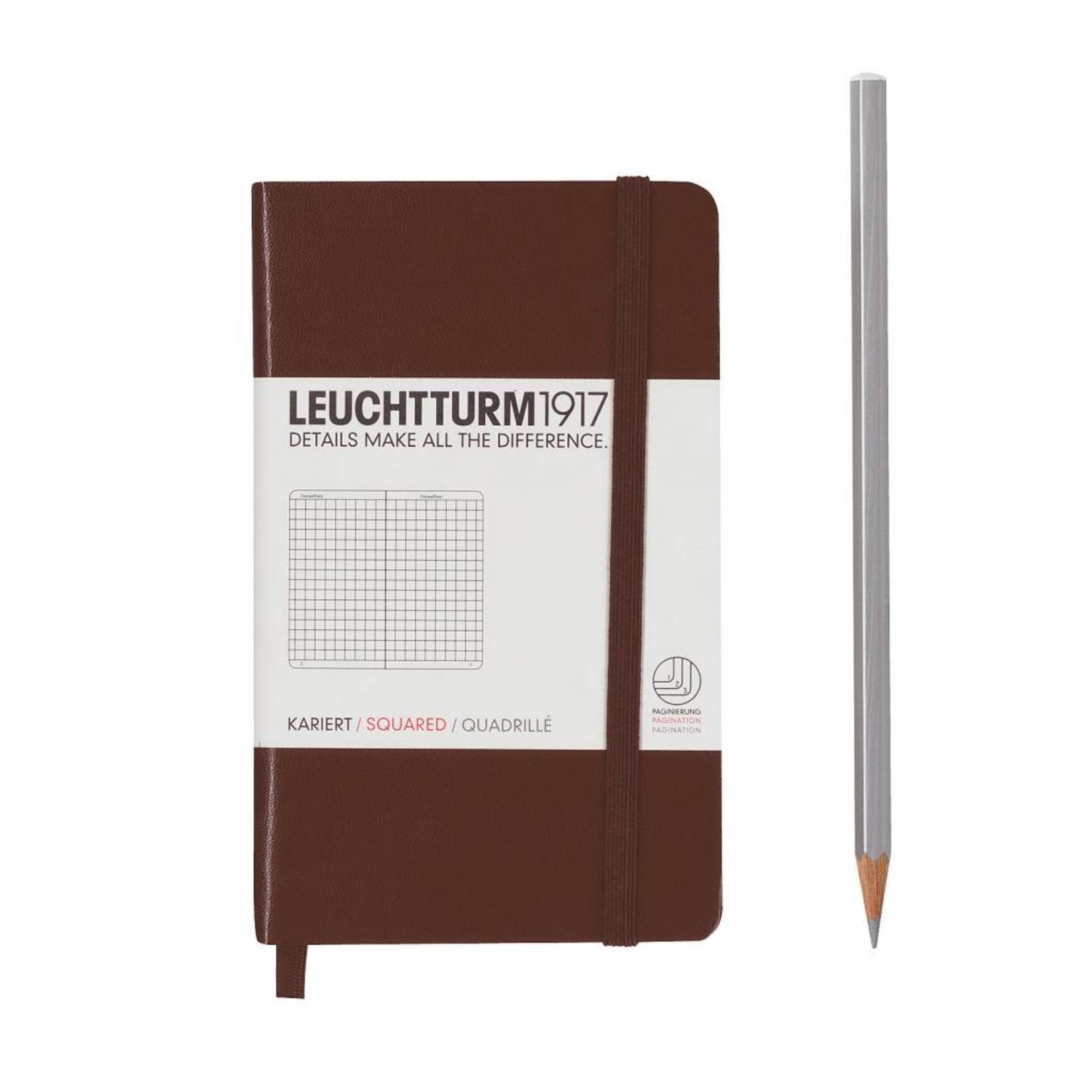 Leuchtturm1917 Leuchtturm1917 Notizbuch, Pocket, Schokolade, Kariert