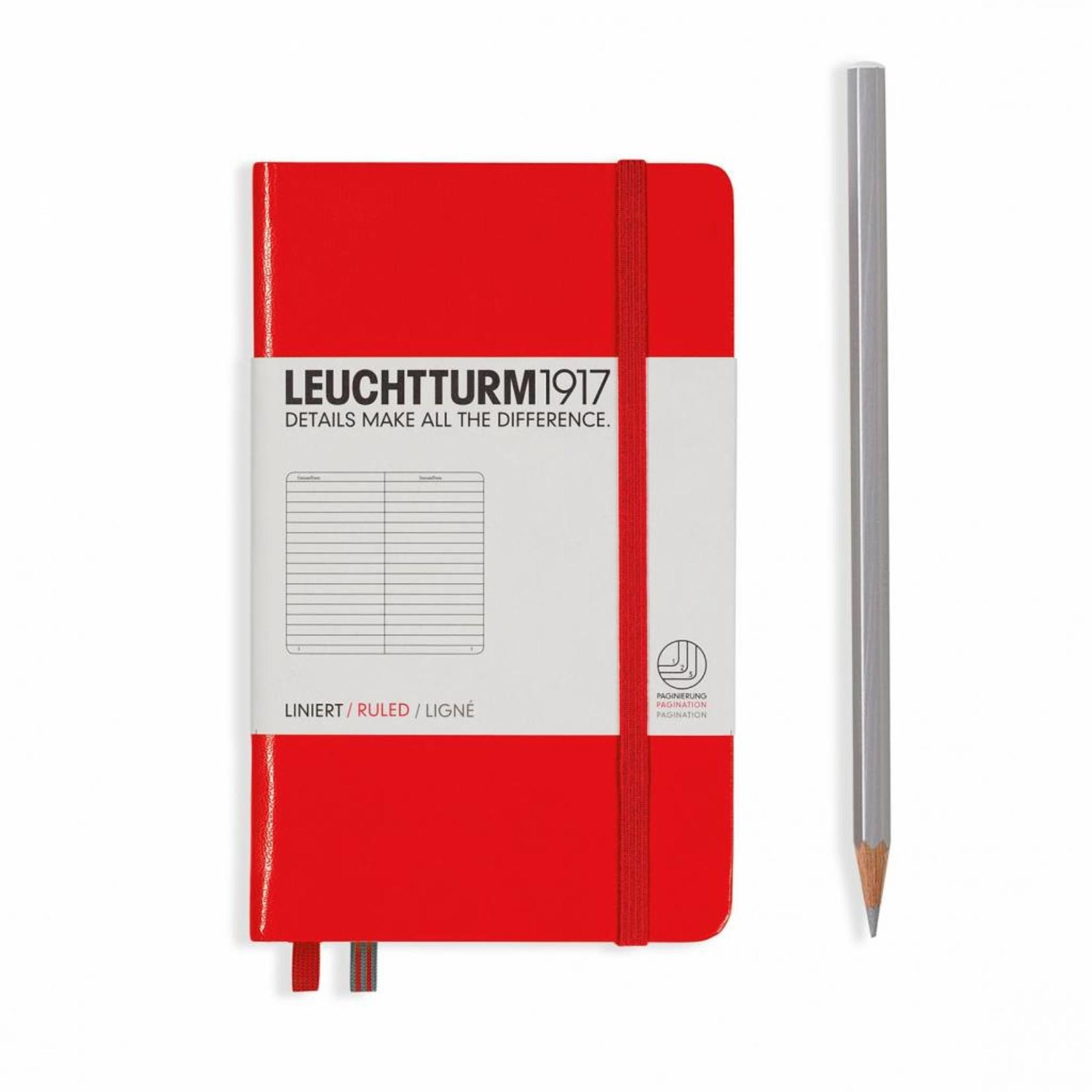 Leuchtturm1917 Leuchtturm1917 Notizbuch, Pocket, Rot, Liniert