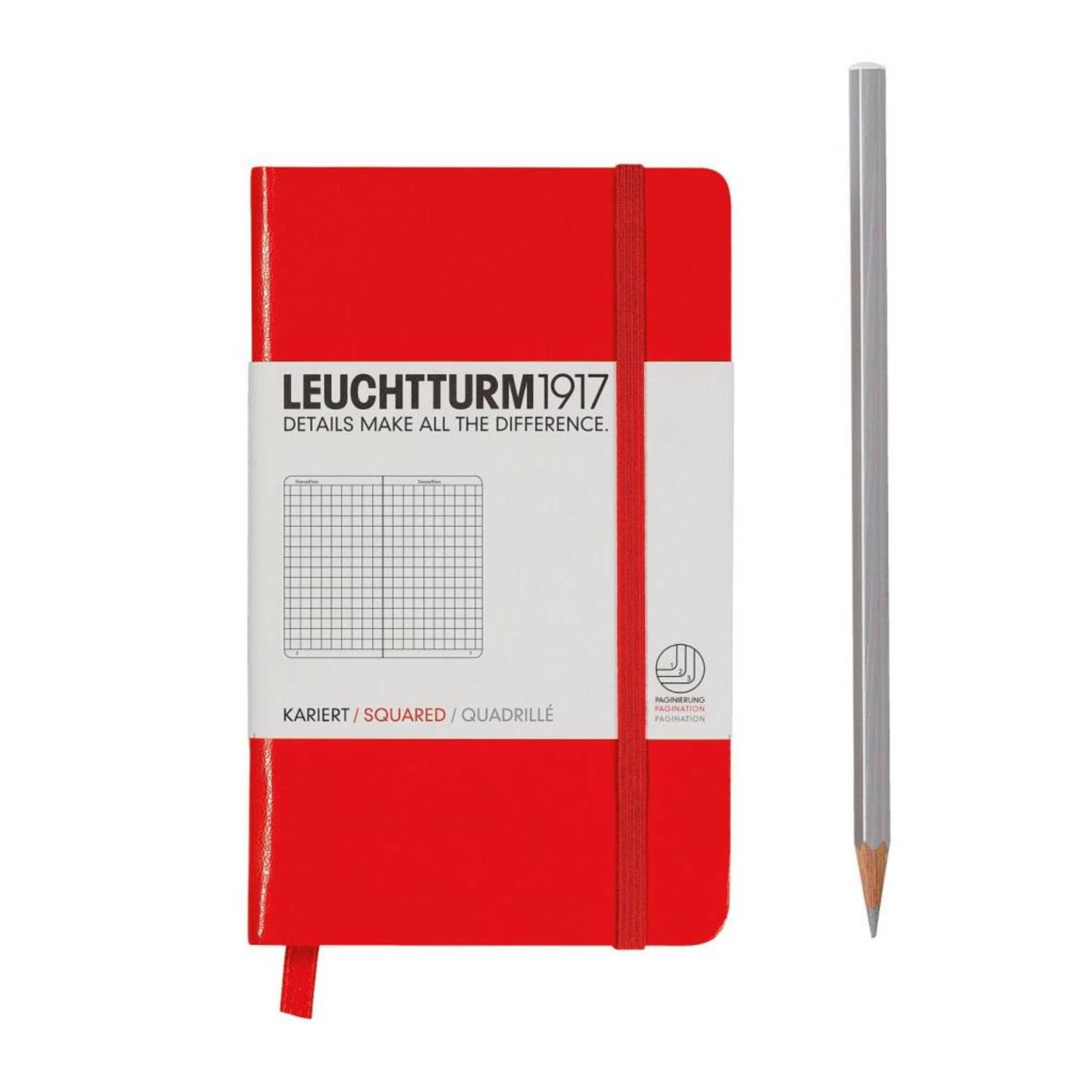 Leuchtturm1917 Leuchtturm1917 Notizbuch, Pocket, Rot, Kariert