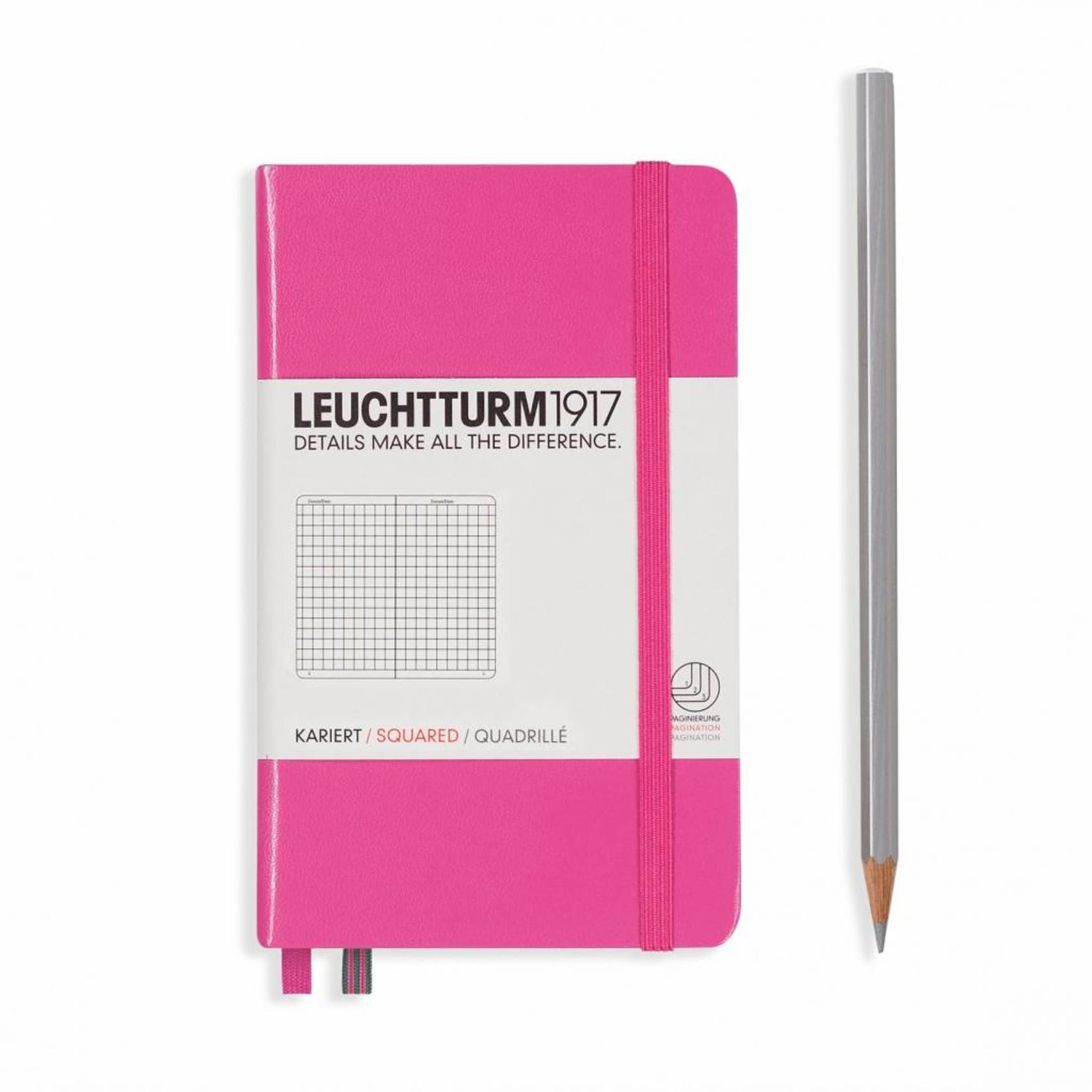 Leuchtturm1917 Leuchtturm1917 Notizbuch, Pocket, Pink, Kariert