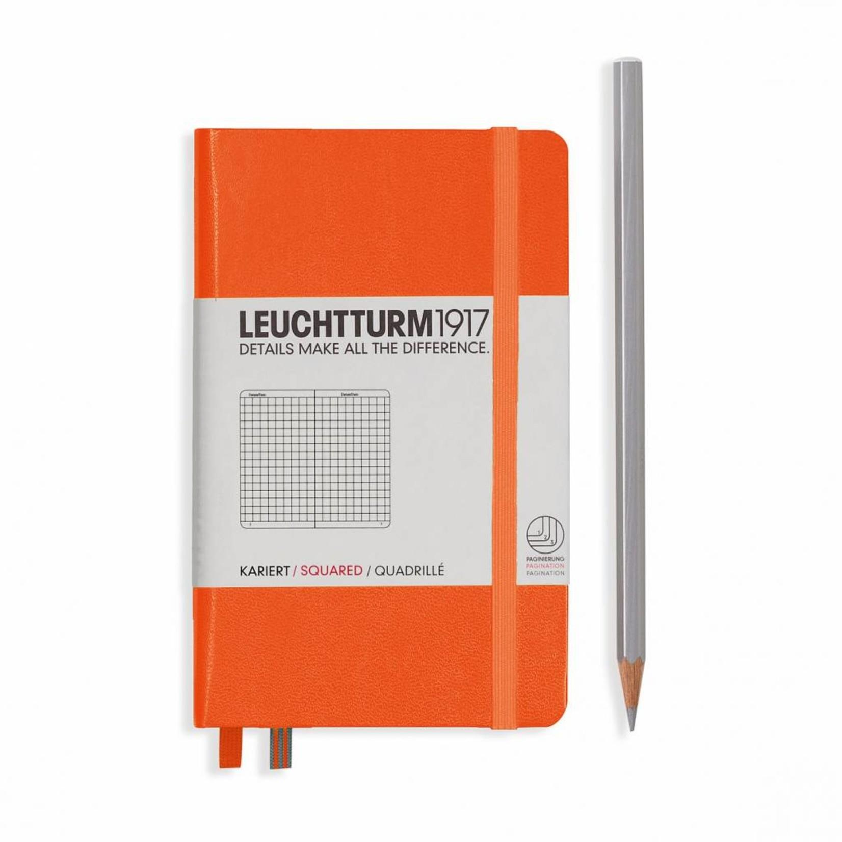 Leuchtturm1917 Leuchtturm1917 Notizbuch, Pocket, Orange, Kariert