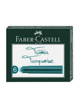 Faber-Castell FC Tintenpatronen Standard türkis 6er