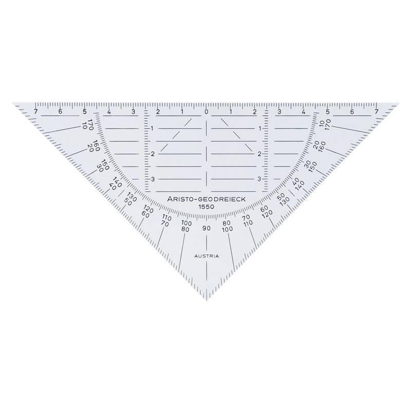 ARISTO Geodreieck 16cm biegsam 1550