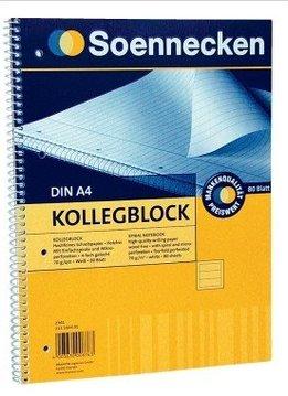 Soennecken eG SOE Kollegblock A4 liniert 80Bl. Spirale 70g