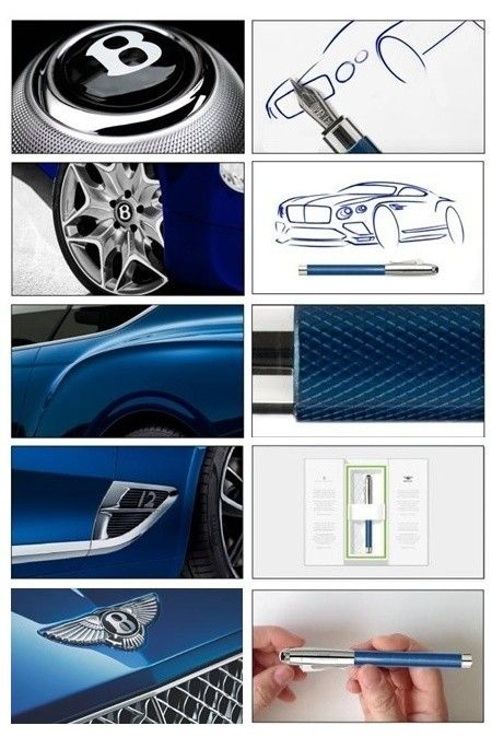 Graf von Faber-Castell GvFC Bentley FH Sequin Blue M