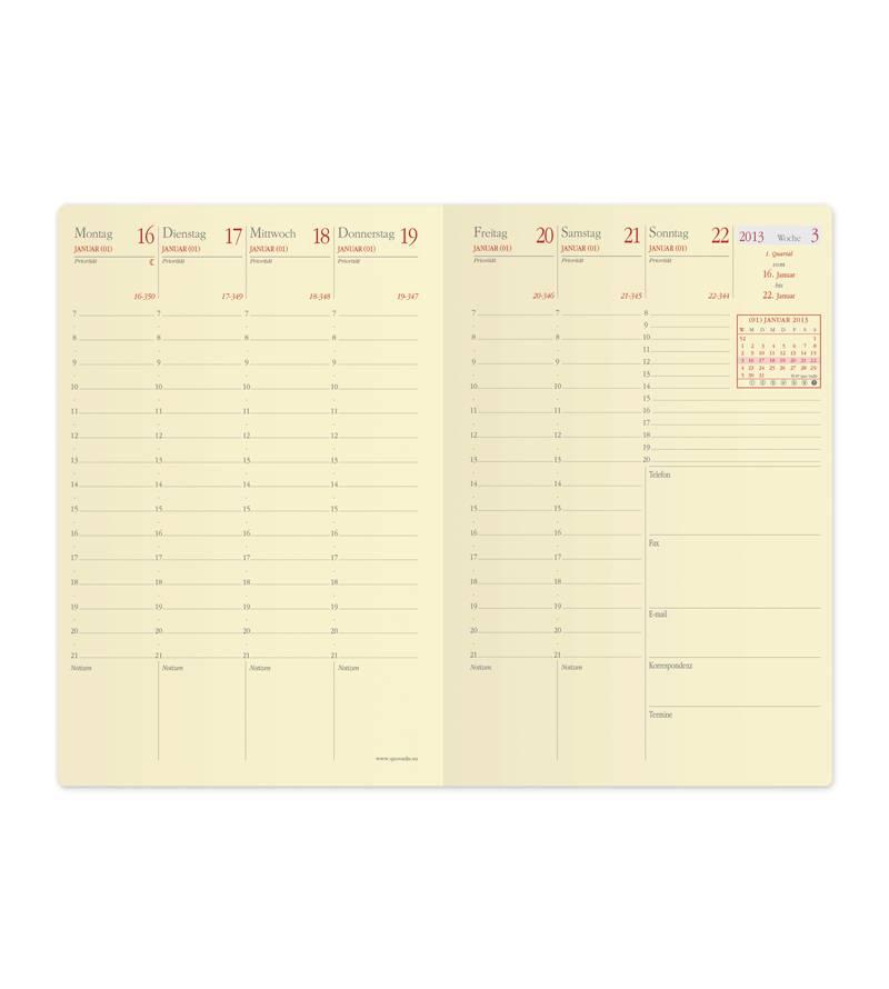 Quo Vadis GESCHÄFT BUS PRESTIGE SOHO Kalender rosa A6 1W/2S