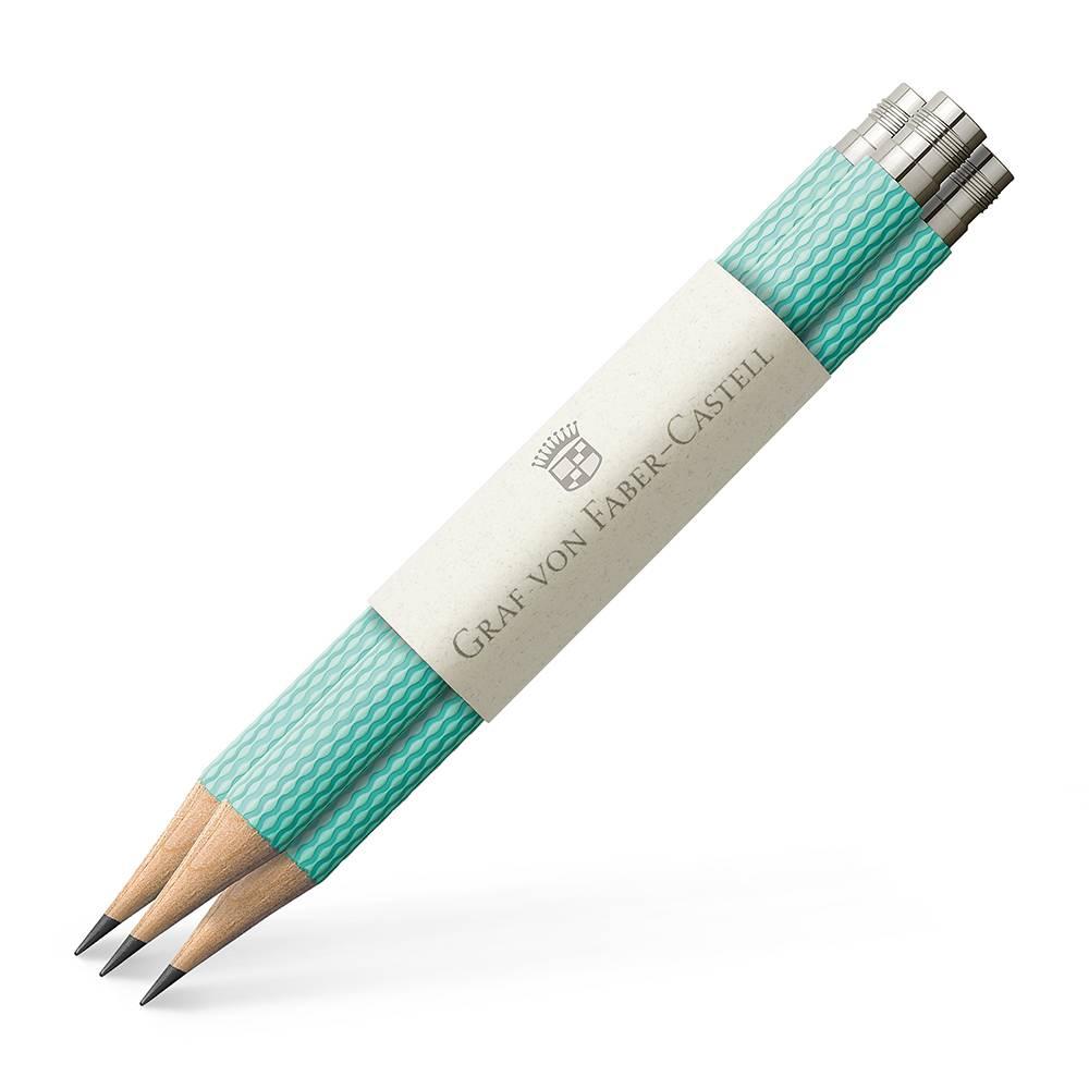 Faber-Castell Graf von Faber Castell Taschenbleistifte Farbwelten Turquoise 3Stk für Perfekten Bleistift