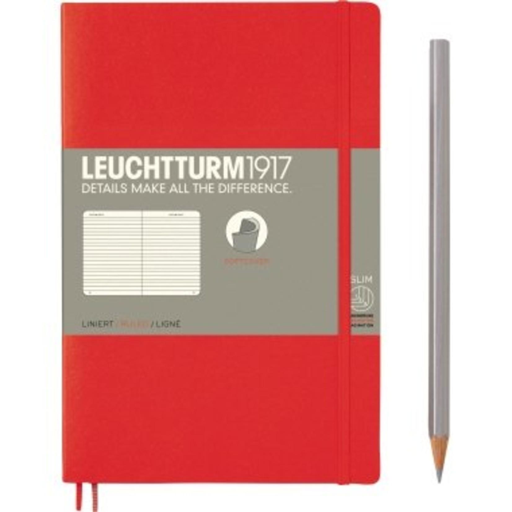 Leuchtturm LT NB B6 SC Paperback Rot Liniert