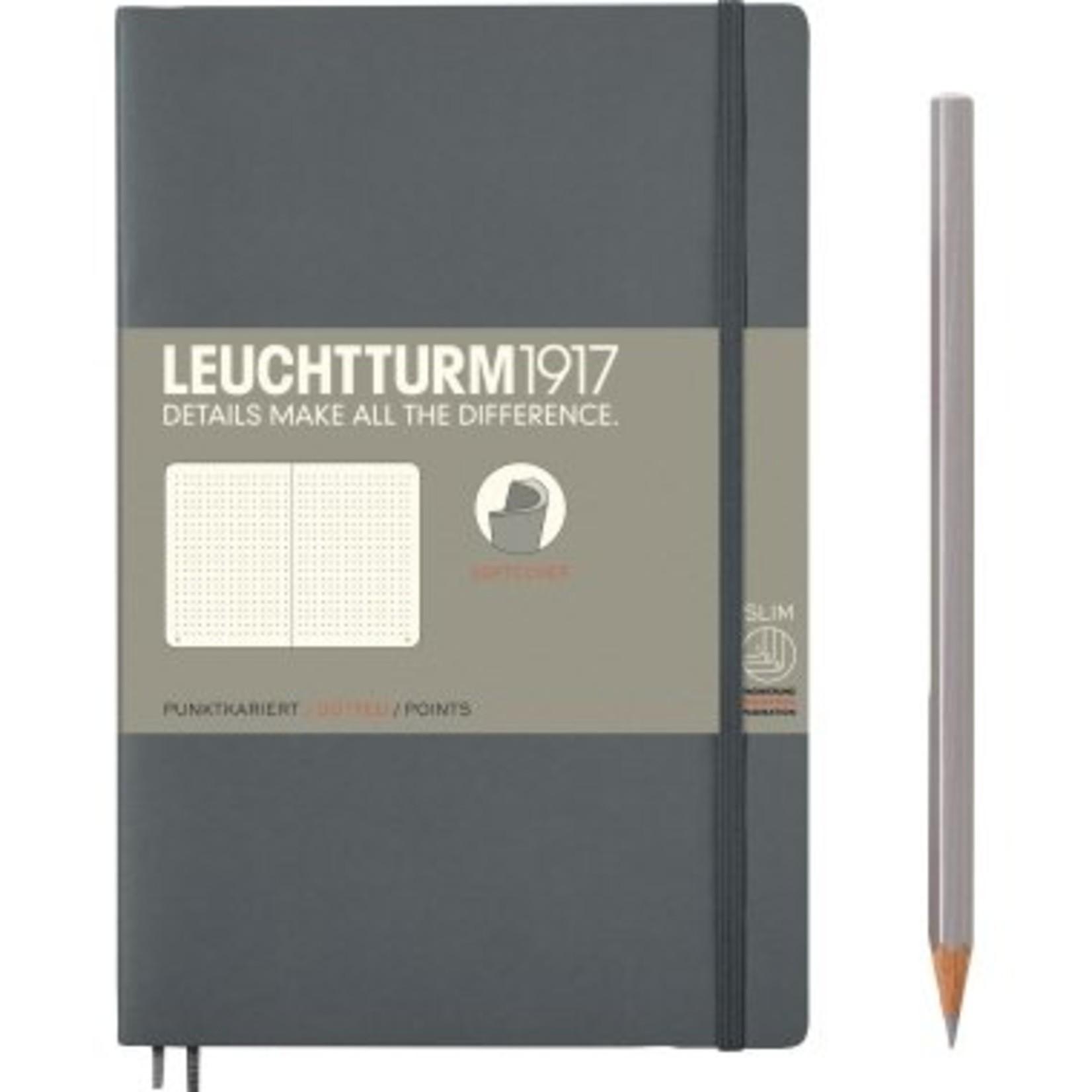 Leuchtturm LT NB B6 SC Paperback Anthrazit Dotted