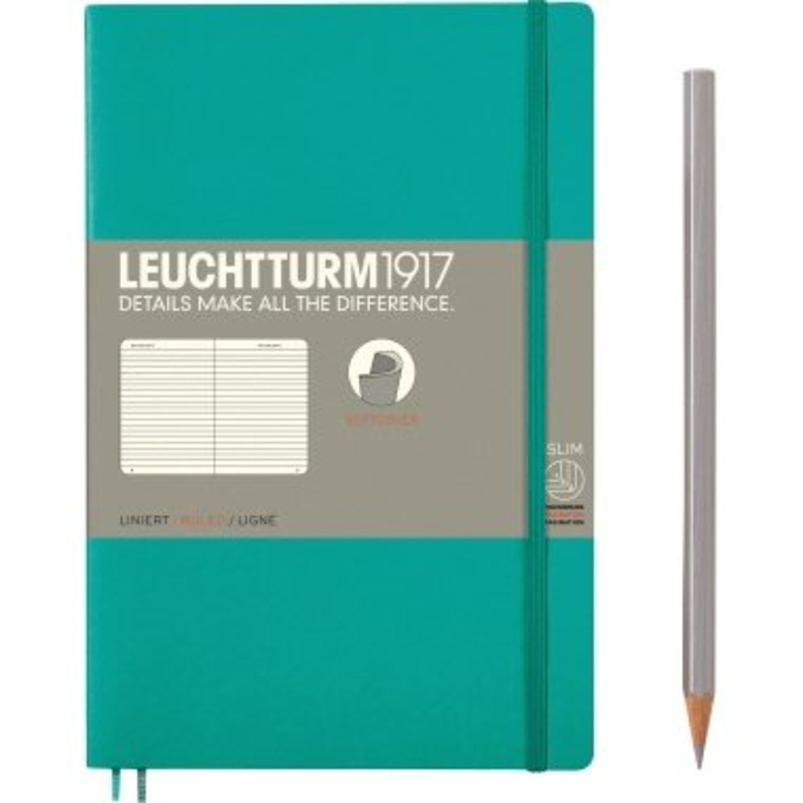 Leuchtturm LT NB B6 SC Paperback Smaragd Liniert