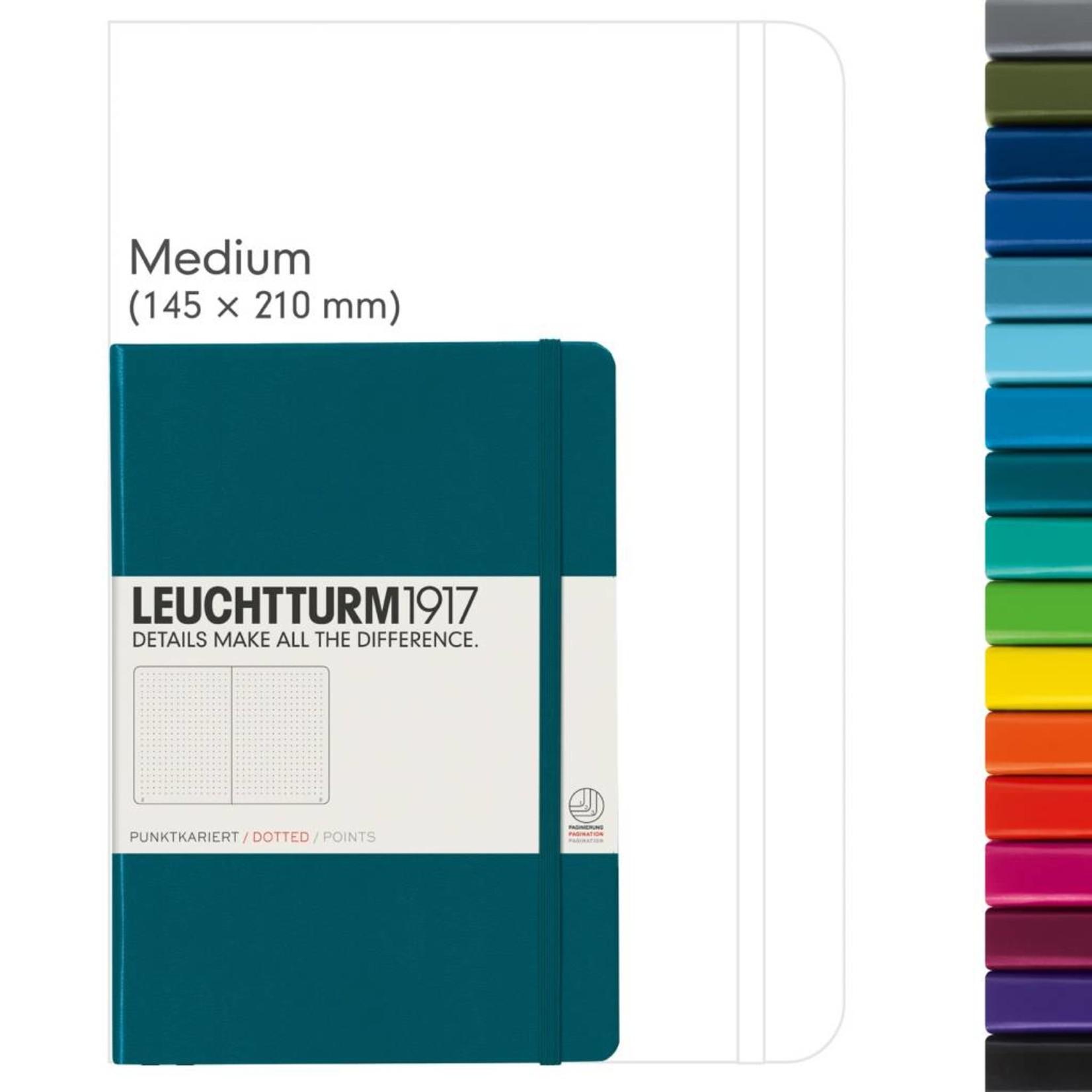 Leuchtturm1917 LT Notizbuch A5 MEDIUM HC pacific green dotted