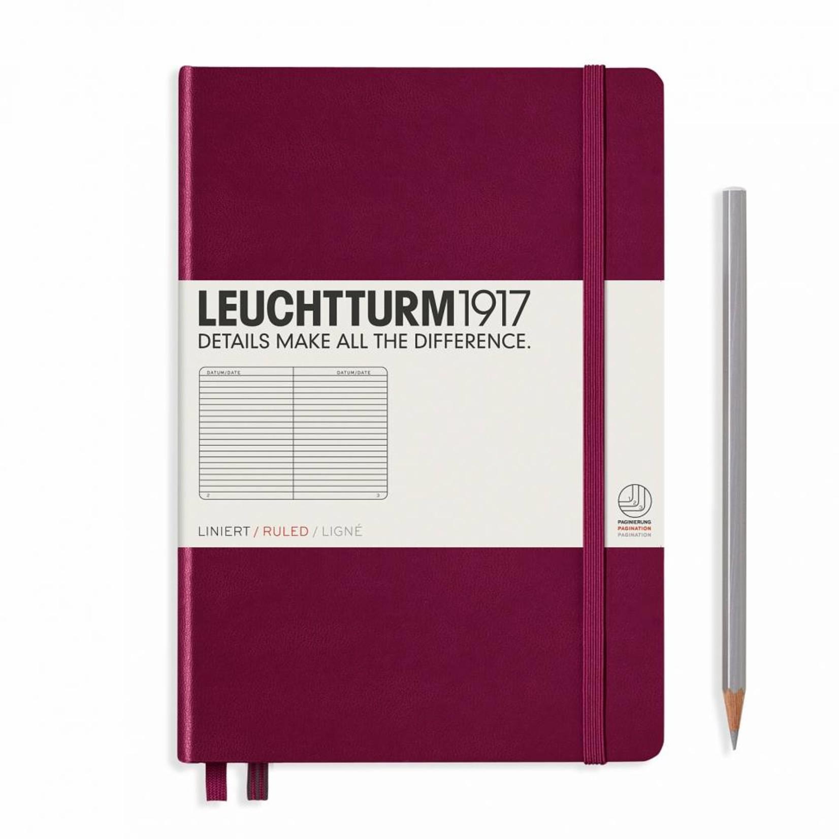 Leuchtturm1917 LT Notizbuch A5 MEDIUM HC port red liniert