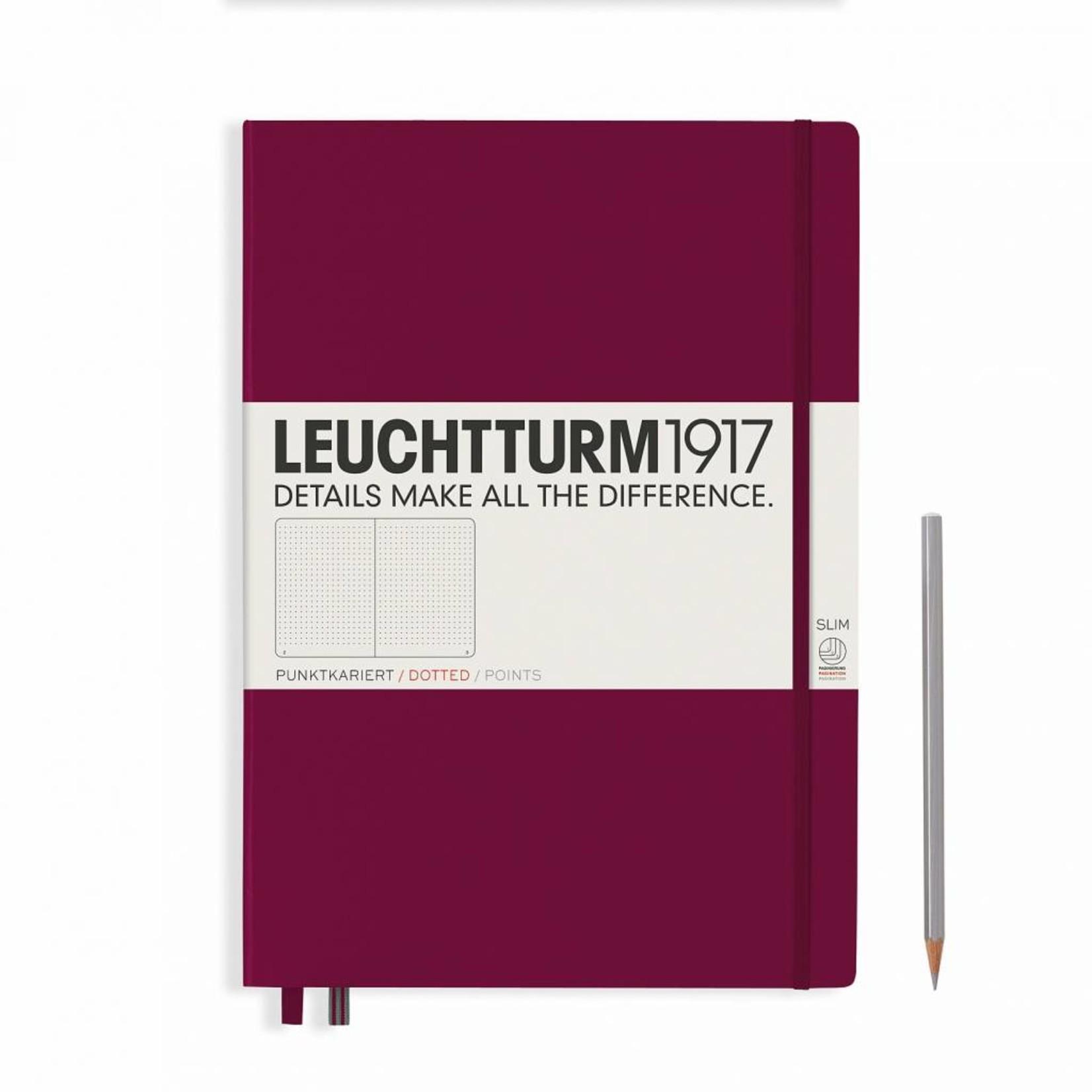 Leuchtturm1917 LT Notizbuch A4 MASTER SLIM HC port red dotted