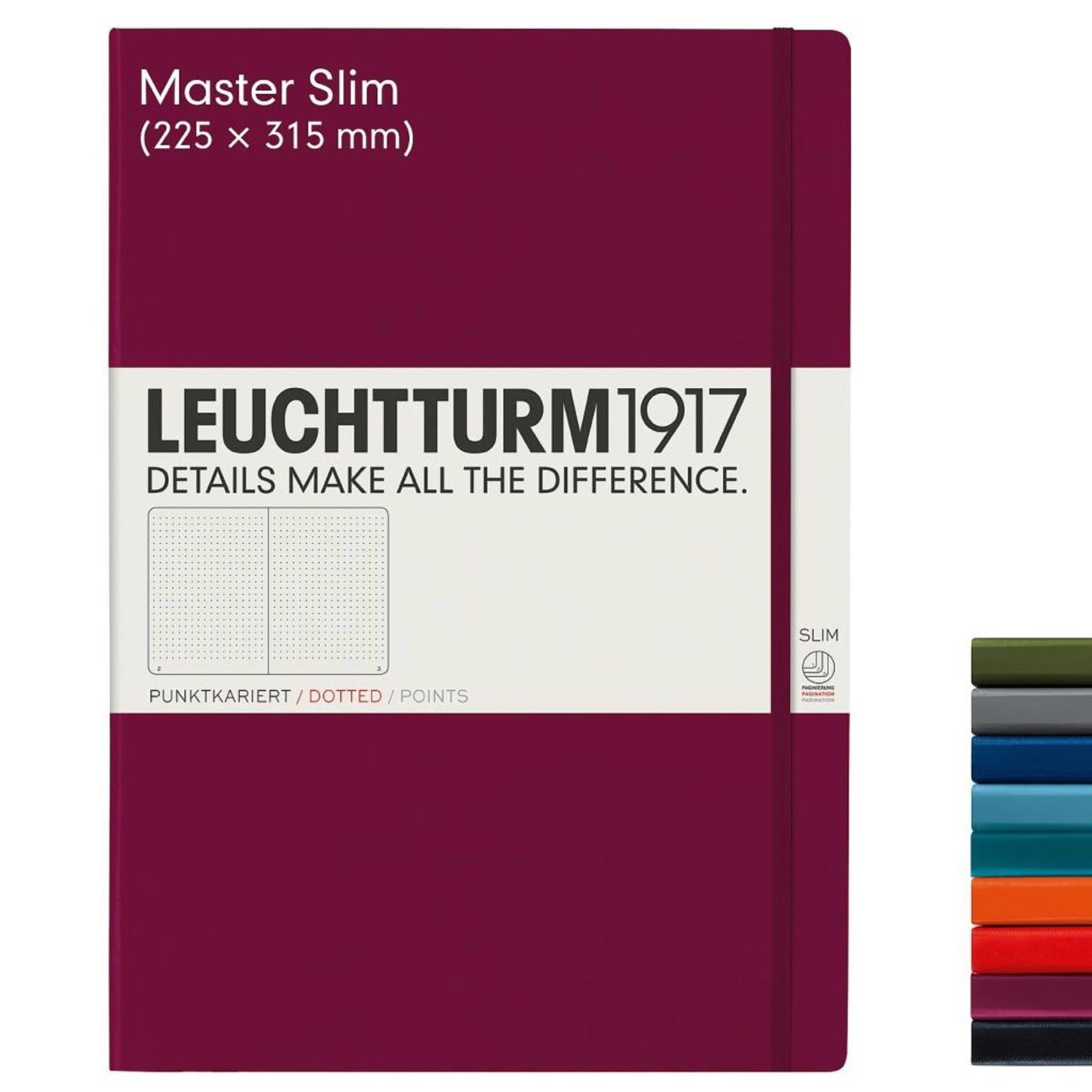 Leuchtturm1917 LT Notizbuch A4 MASTER SLIM HC port red kariert
