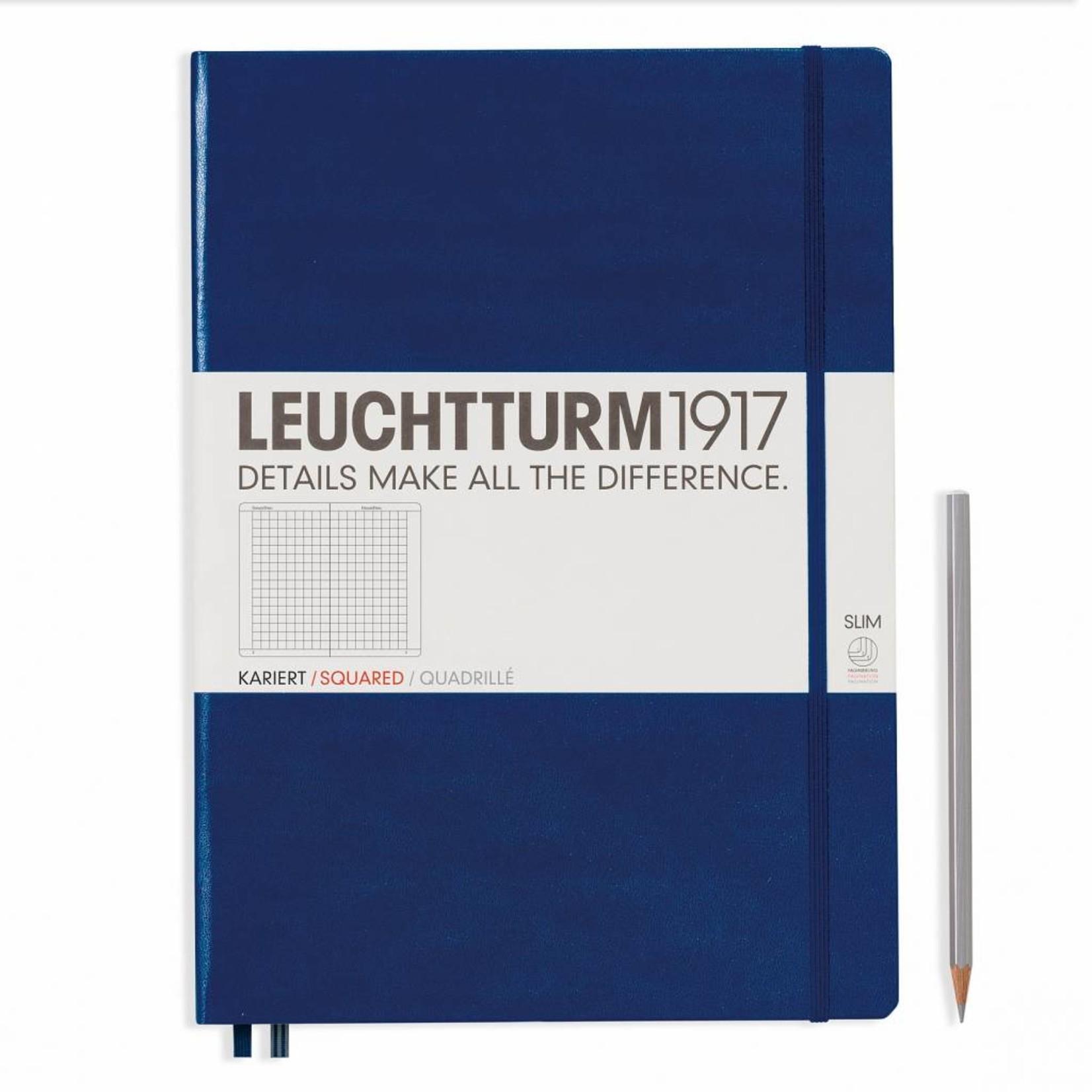 Leuchtturm1917 LT Notizbuch A4+ MASTER HC marine kariert
