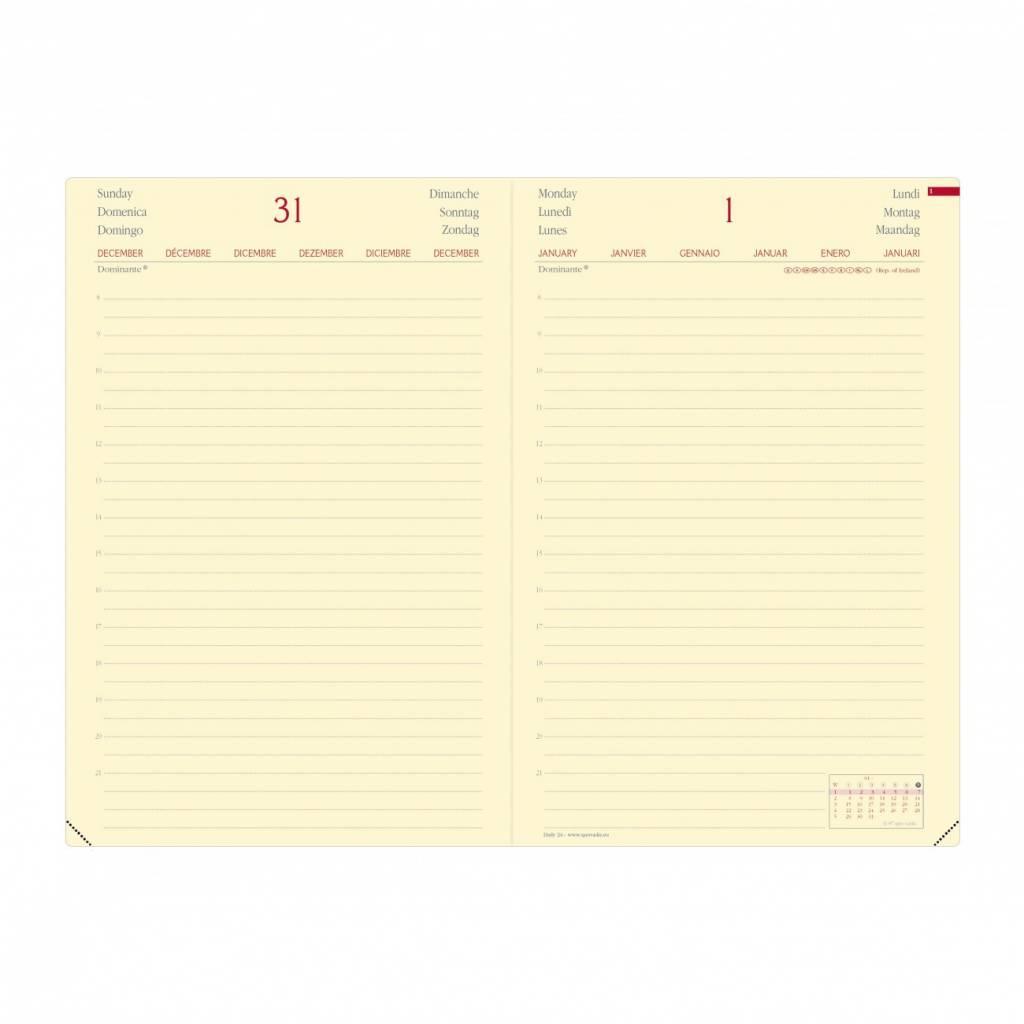 Quo Vadis Kalender DAILY 24 PRESTIGE 16x24 1Tag/1Seite Habana ebenholz