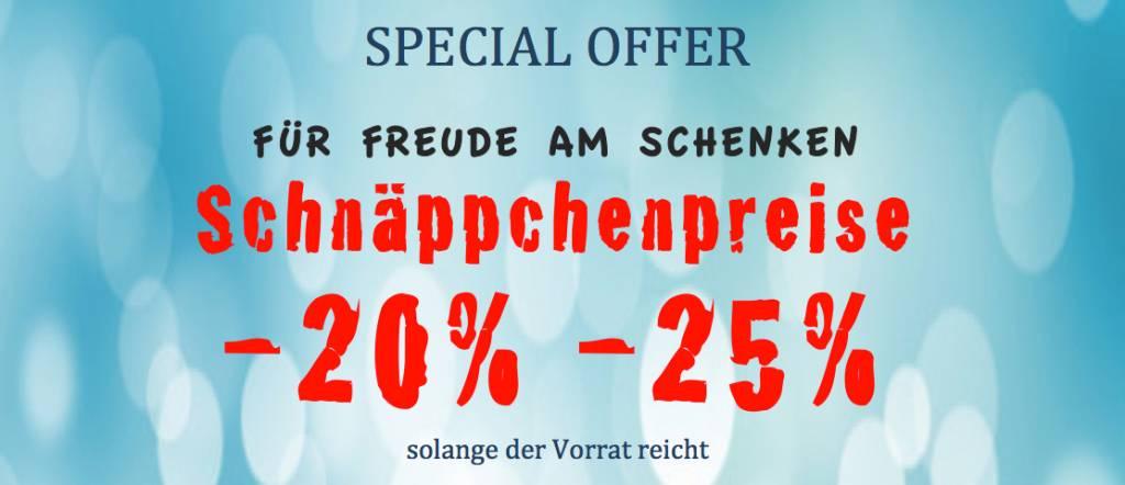 FÜR FREUDE AM SCHENKEN-Schnäppchenpreise -20%-25%