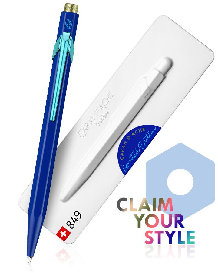 Caran d'Ache Carandache Kugelschreiber 849 Claim your Style blue