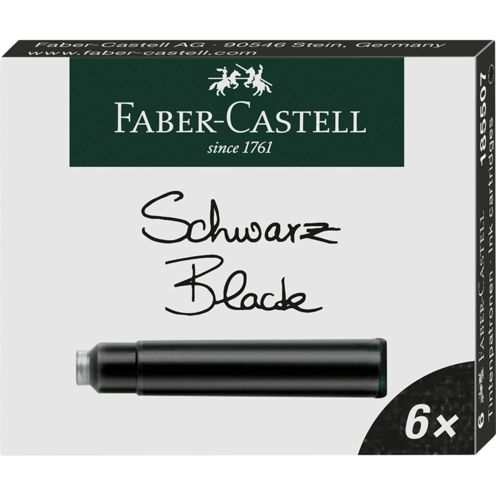 Faber-Castell FC Tintenpatronen Standard schwarz 6er