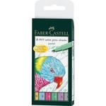 Faber-Castell Tuschestift Pitt Artist Pen B Brush Pastel 6STK