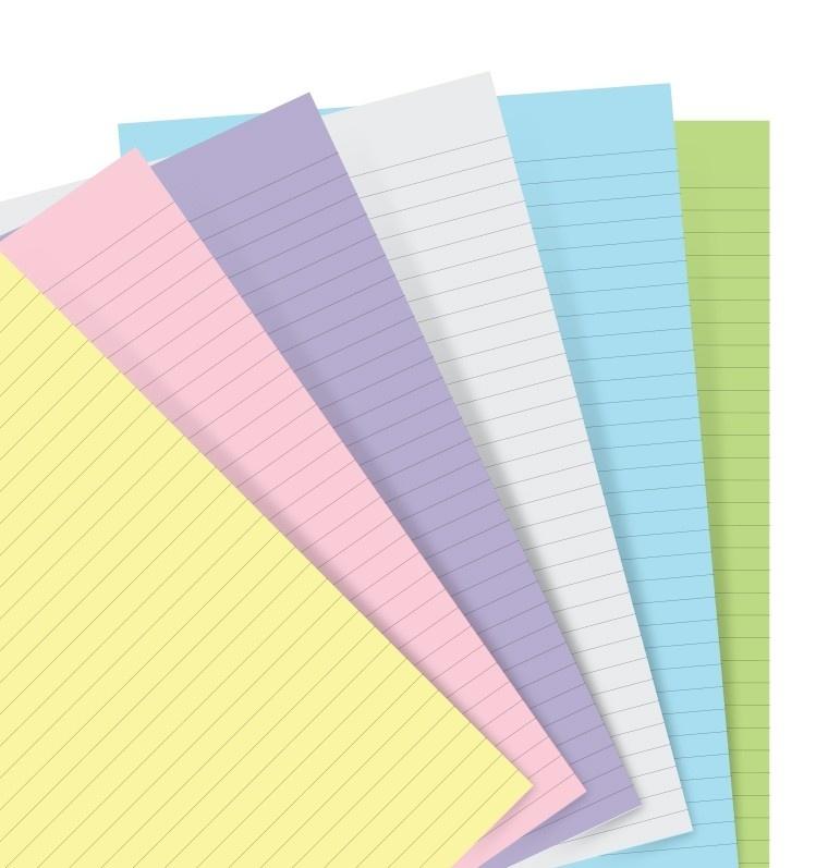 Filofax Deutschland A5 Papier PASTEL sort 60Blatt liniert