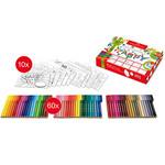 Faber-Castell Connector Filzstift Set 60 Filzstifte +10Grusskarten