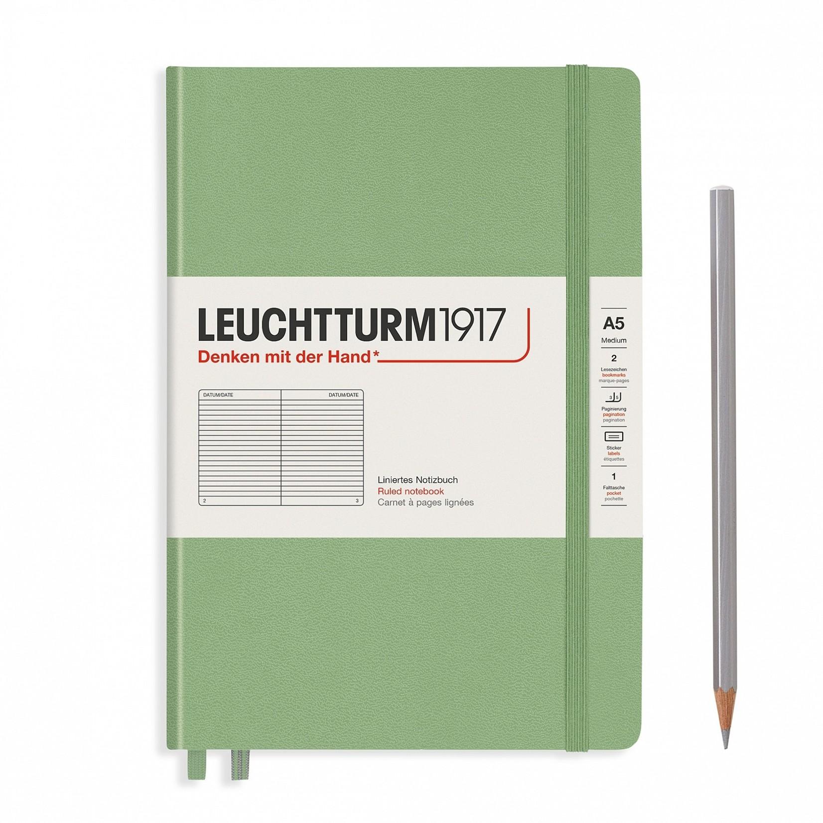 Leuchtturm1917 LT Notizbuch A5 MEDIUM HC Salbei dotted