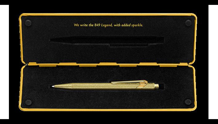 Caran d'Ache 849 Sparkle/black Code X5 gold glitter