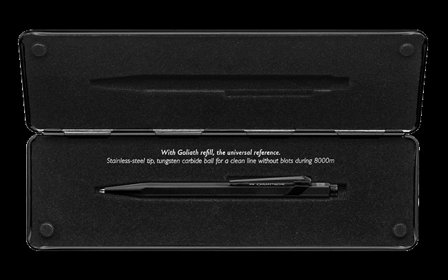 Caran d'Ache 849 Sparkle/black Code X5 schwarz glitter