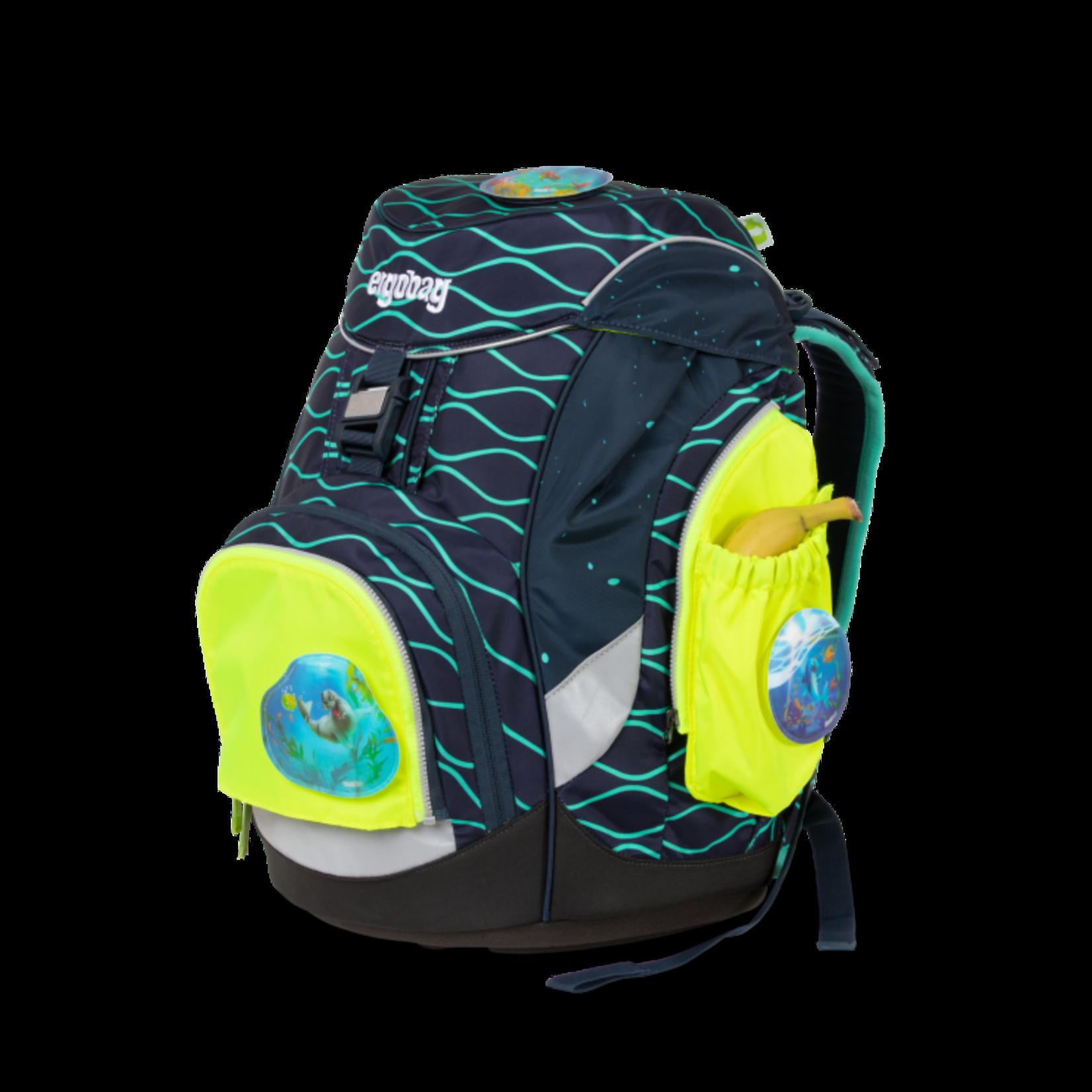 ERGOBAG Ergobag Seitentaschen-ZIP Set gelb fluoreszierend 3tlg