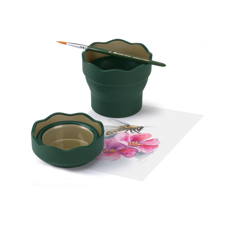 Faber-Castell CLIC&GO Wasserbecher Art&Graphic grün