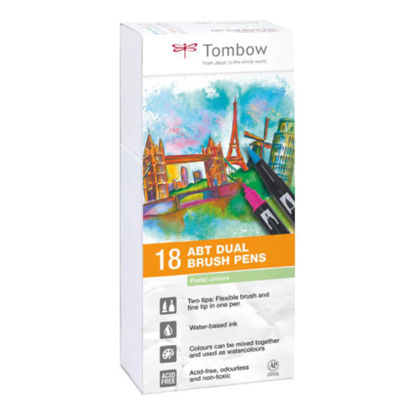 Tombow Dual Brush Pen 18er Set Pastellfarben
