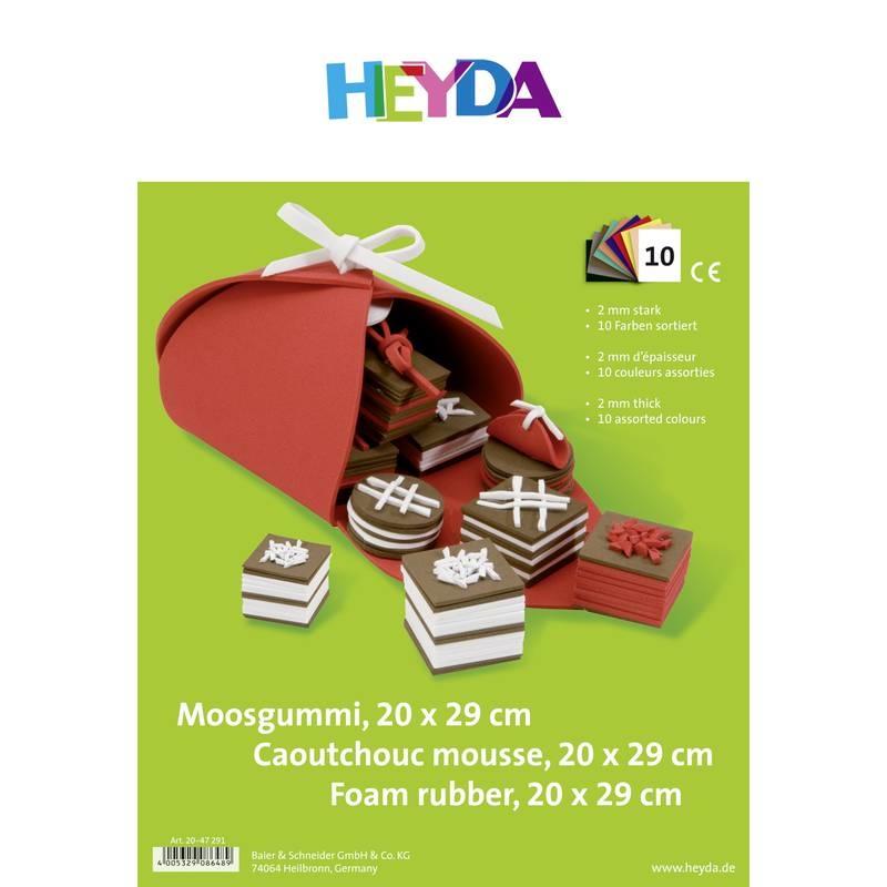 HEYDA Moosgummi Set 20x30 10er Set