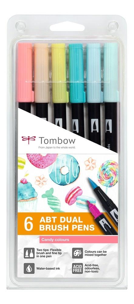 Tombow DUAL BRUSH PEN 6er Set Candy Colours