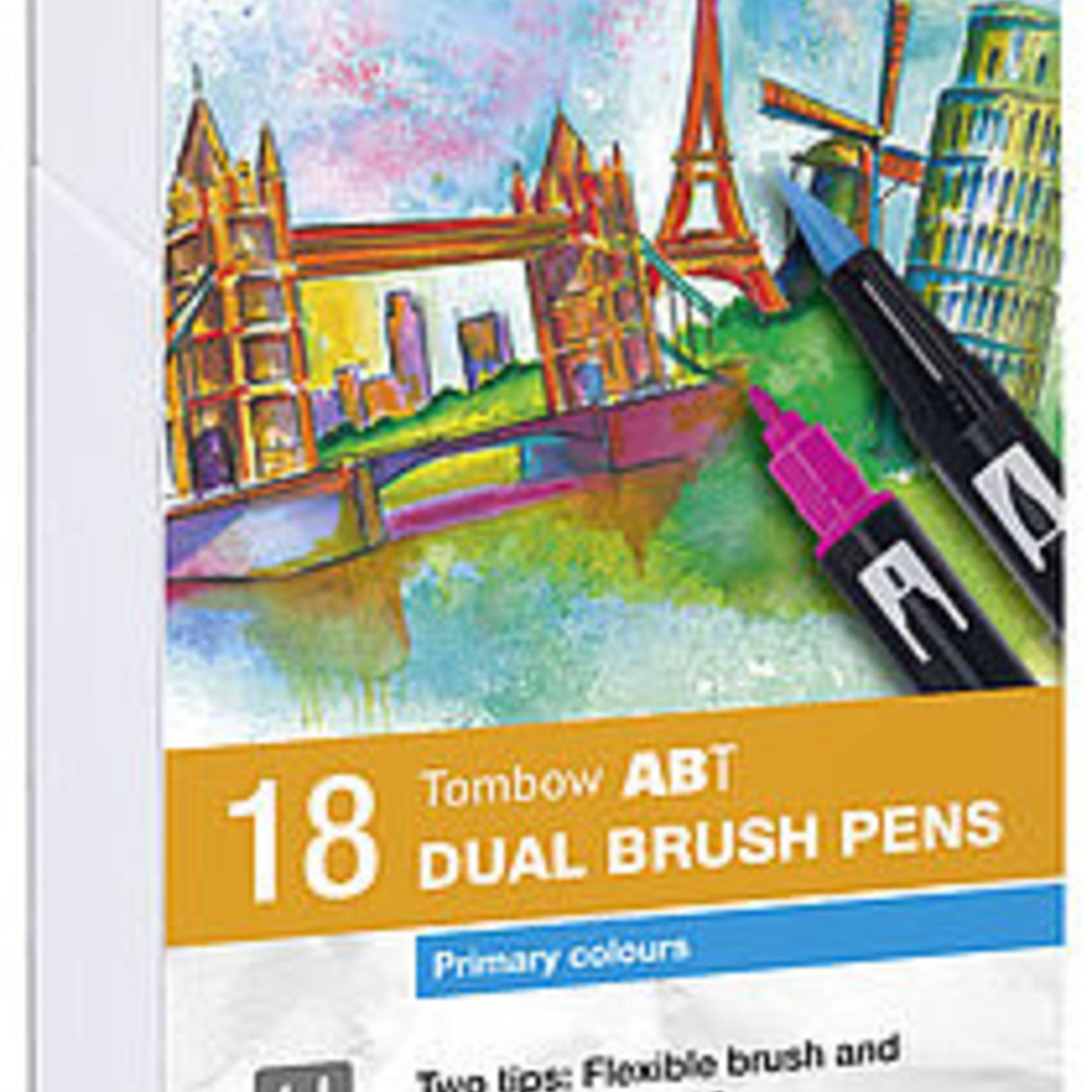Tombow Dual Brush Pen 18er Set Primärfarben