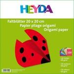 HEYDA Faltblatt 20x20cm 60g 100Bl sortiert
