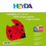 HEYDA Faltblatt 15x15cm 60g 100Bl sortiert