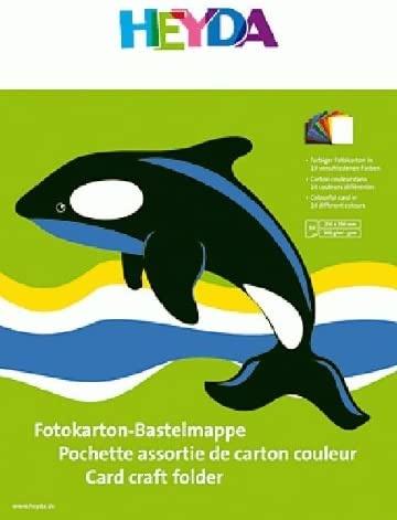 HEYDA Fotokarton Bastelmappe 25x35cm 300g,10Blatt