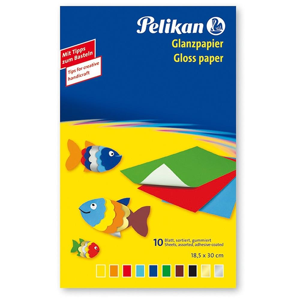 Pelikan Austria GmbH Pelikan Glanzpapier 10Blatt sortiert