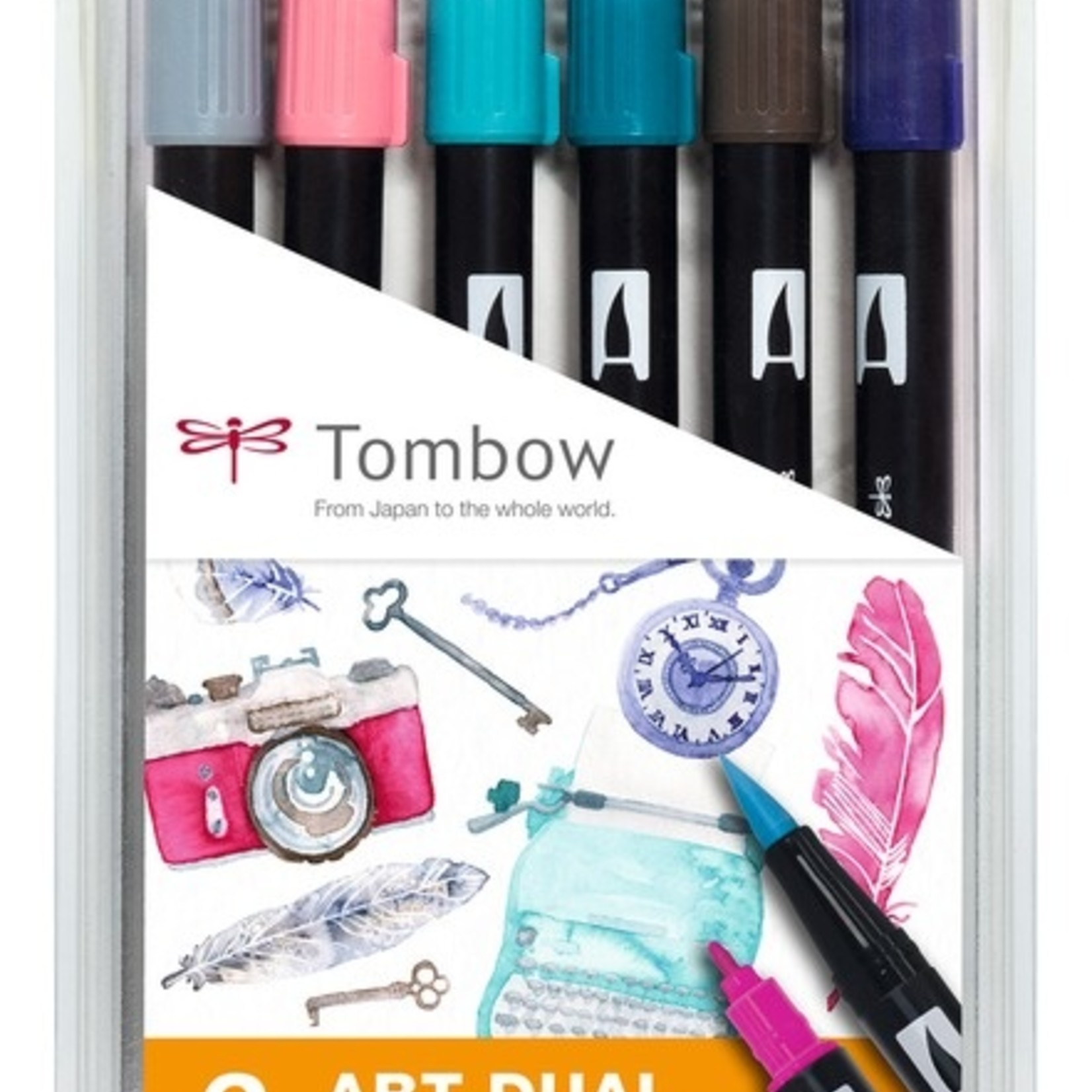 Tombow DUAL BRUSH PEN 6er Set Vintage Colours