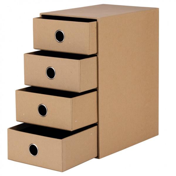 Rössler SOHO Schubladenbox kraft 4er