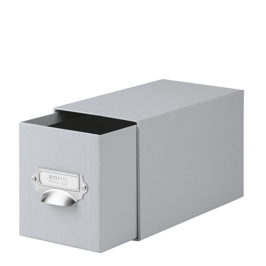 Rössler SOHO CD-Schubladenbox mit Griff stone