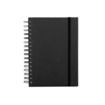 Rössler SOHO Spiralnotizbuch mit Gummizug schwarz