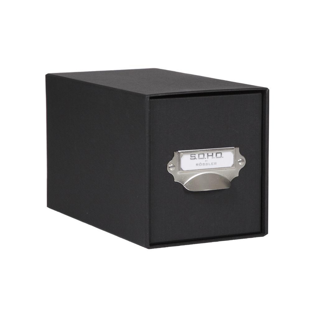 Rössler SOHO CD-Schubladenbox mit Griff schwarz
